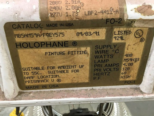 Holophane Halogen Warehouse Light (MB5AM59A/FQEY575)