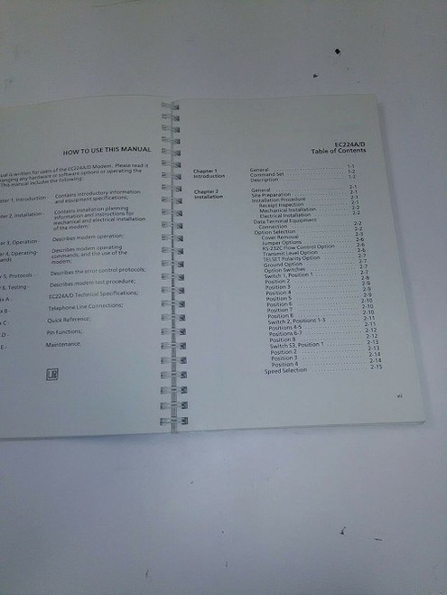 Motorola Installation and Operations Manual EC224A-D
