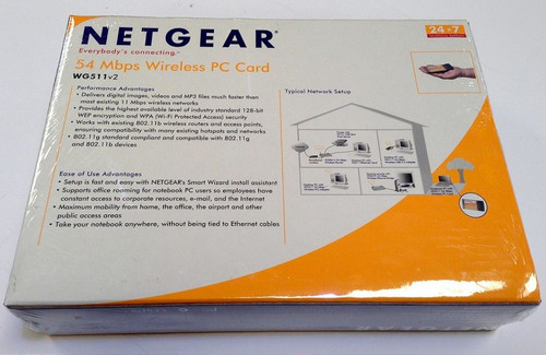 New Netgear WG511v2 54 Mbps Wireless PC Card Fast Shipping!!! Low Price!