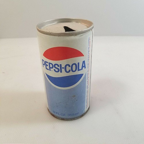 Pepsi Cola Soda Metal Can 12 OZ Antique Vintage Pull Tab Top