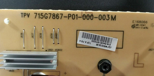 Phillips 55BDL4050D/00 Power Supply Board 715G7867-P01-000-003M