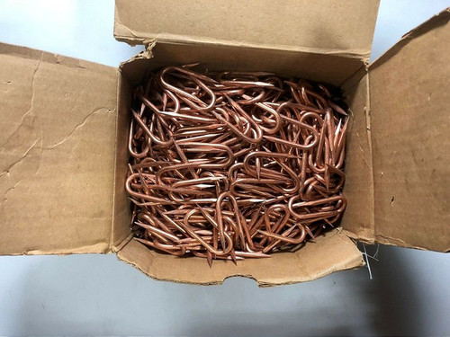 """REDMORE PRODUCTS 2""""X1/2""""W.162""""DIA, COPPER COATED STAPLE 100ct"""