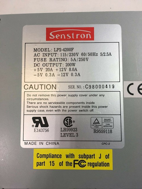 Senstron SP2-4200F Power Supply 200W (For Parts)