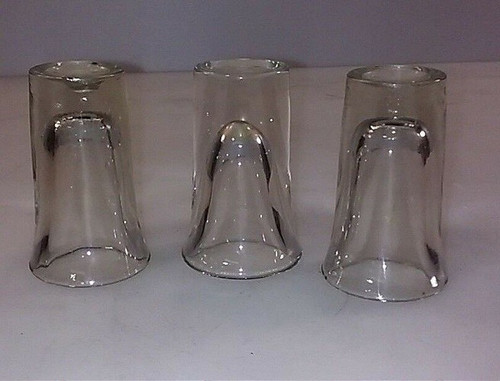 Set of 3 Clear Shot Glasses