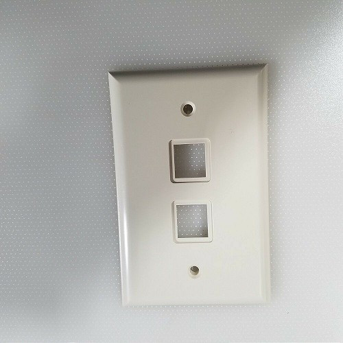 SMP RMTS-53-01(DATAKIT) WALL PLATE-PLASTIC 2 PORT