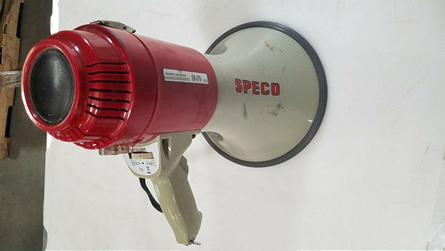 Speco Technologies Megaphone, 14-1/4 In., Siren ER370 As Is