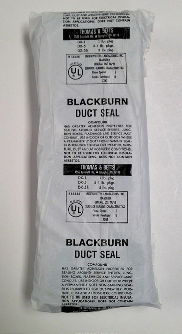 Thomas & Betts Blackburn Duct Seal 5 LB. Slab DX-5S