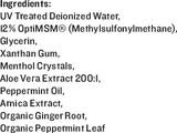 MSM Aloe Gel, 4oz - Ingredients