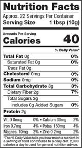 Red Maca Powder, 8oz, Organic - Nutrition Facts