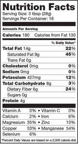 Sunfood Cacao Paste, Nutrition Facts