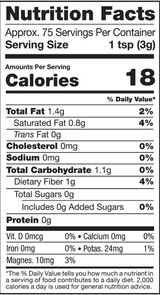 Cacao Nibs, 8oz, Organic - Nutrition Facts