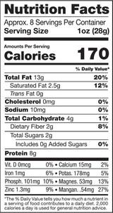 Jungle Peanuts, 8oz, Organic, Raw - Nutrition Facts