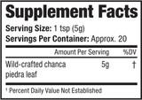 Tea, Chanca Piedra, 3.5oz - Supplement Facts
