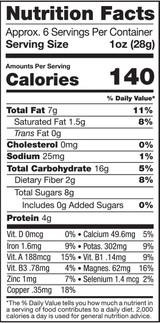 Berry Adventure, 6oz, Organic, Raw - Nutrition Facts