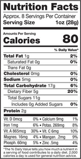Golden Berries, 8oz, Organic, Raw - Nutrition Facts