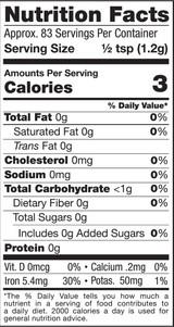 Shilajit Powder, 3.5oz, Raw - Nutrition Facts