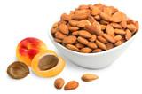 Apricot Kernels, Sweet, 8oz, Organic in bowl