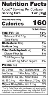 Pumpkin Seeds, 8oz, Heirloom, Organic, Raw - Nutrition Facts