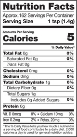 Maca Extreme, 8oz, Organic - Nutrition Facts