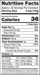 Supergreens, 8oz, Organic - Nutrition Facts