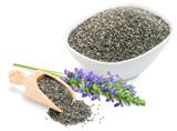 Chia Seeds, 1lb, Organic, Raw - Bowl/Scoop