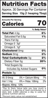 Chia Seeds, 1lb, Organic, Raw - Nutrition facts