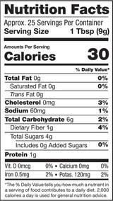 Goji Berry Powder, 8oz, Organic, Raw - Nutrition Facts