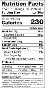 Macadamia Nuts, 8oz, Organic, Raw - Nutrition Facts