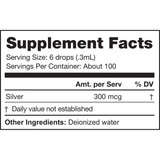 Super Nano Silver, 1 fl oz Supplement Facts