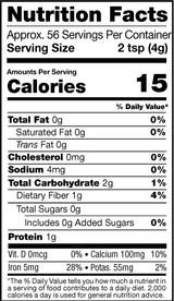 Moringa Powder, Organic, Nutrition Facts