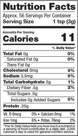 Golden Milk Super Blend, 6oz, Organic - Nutrition Facts