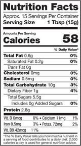 Bee Pollen, Wild-Crafted, 8oz, Raw - Nutrition Facts
