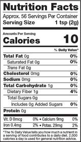 Matcha Green Tea Powder, 4oz, Organic - Nutrition Facts