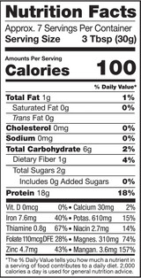 Hemp Protein, 8oz, Organic, Raw - Nutrition Facts
