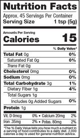 Gelatinized Maca Powder, 8oz, Organic Nutrition Facts