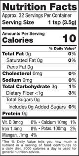 Turmeric Powder, 4oz, Organic - Nutrition Facts