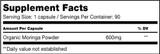 Moringa Capsules Supplement Facts