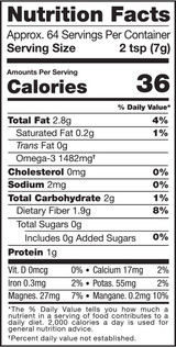 Flaxseed, Whole, 1lb, Organic, Raw - Nutrition Facts