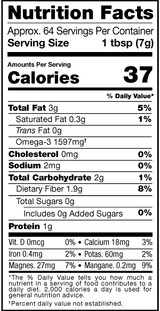 2566 Milled Flaxseed 1lb Nutrition Facts