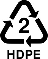 Recyclable #2 HDPE