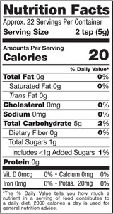 Pomegranate Powder, 4oz, Organic - Nutrition Facts