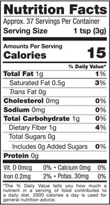 Sweet Cacao Nibs, 4oz, Organic - Nutrition Facts