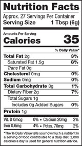 Matcha Super Blend, 5.82oz, Organic - Nutrition Facts
