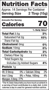 Cacao & Mushrooms, 7.4oz, Organic - Nutrition Facts