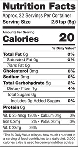 Turmeric & Mushrooms, 6.8oz, Organic - Nutrition Facts