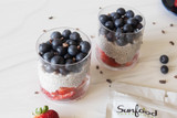 Red, White, and Blue Chia Seed Pudding