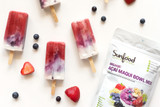 Red, White, and Blueberry Superfood Popsicles