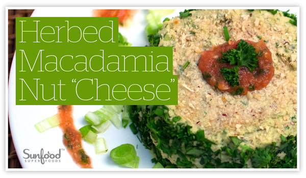 """Herbed Macadamia Nut """"Cheese"""""""