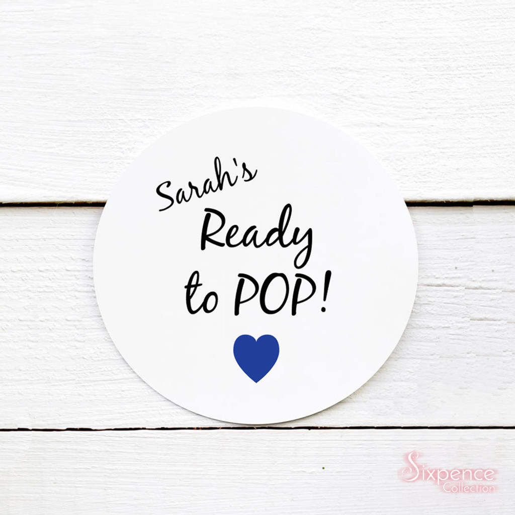 Ready to Pop! Personalised Popcorn Stickers