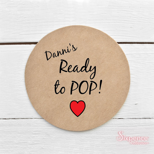 Ready to Pop! Personalised Kraft Brown Stickers